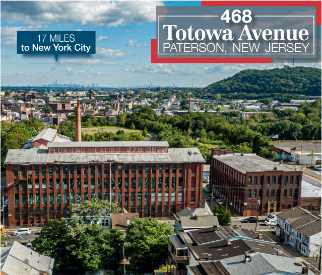 NAI James E. Hanson and Van Houten Corporate Realty Named Exclusive Brokerages for Sale of Historic Loft Building in Paterson, N.J.