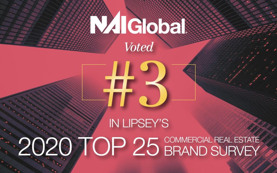 NAI Global Ranked Among Top Five Commercial Real Estate Brands in The 19th Annual Lipsey Survey