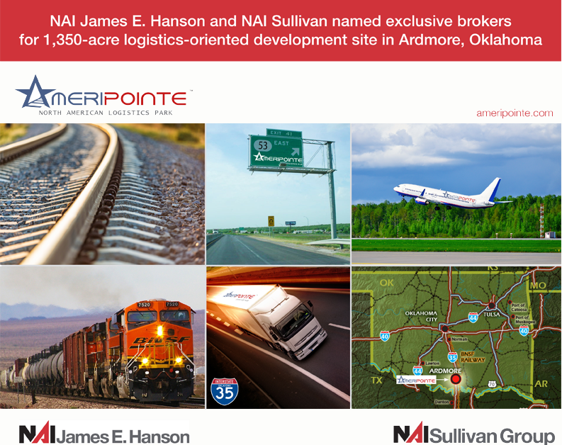 Planes, Trains and Automobiles – NAI Hanson and NAI Sullivan Named Exclusive Brokers for 1,350-Acre Logistics-Oriented Development Site in Ardmore, Oklahoma